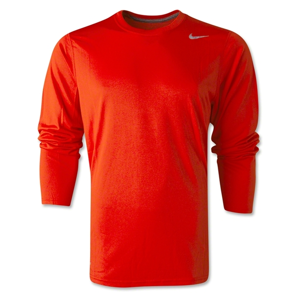 Nike Legend Long Sleeve Poly Top (Orange)