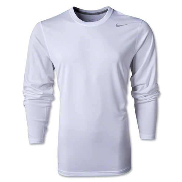Nike Legend Long Sleeve Poly Top (White)
