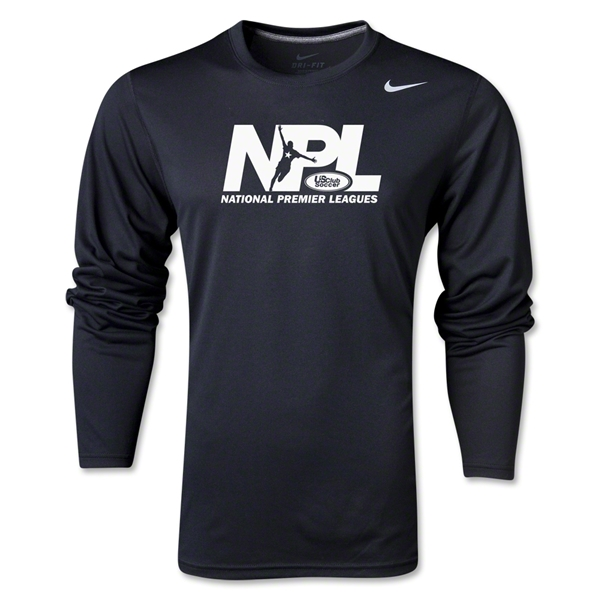 US Club Soccer NPL LS Poly T-Shirt (Black)