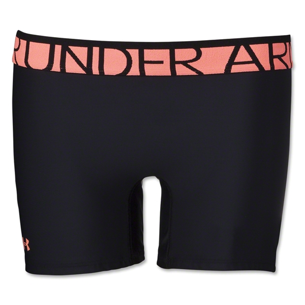 Under Armour Women's Gotta Have It 4 Compression Short (Blk/Orange)