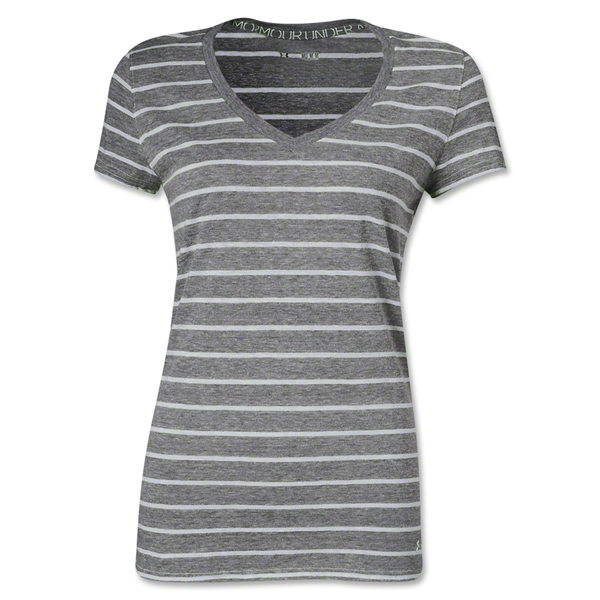 Under Armour Women's Charged Cotton Undeniable T-Shirt (Sv/Wh)