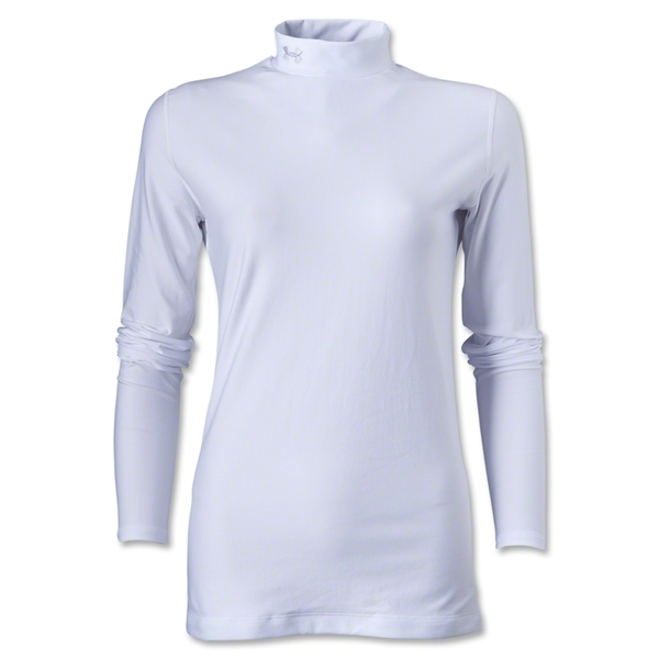 Under Armour Women's ColdGear Compression LS Mock Shirt (White)