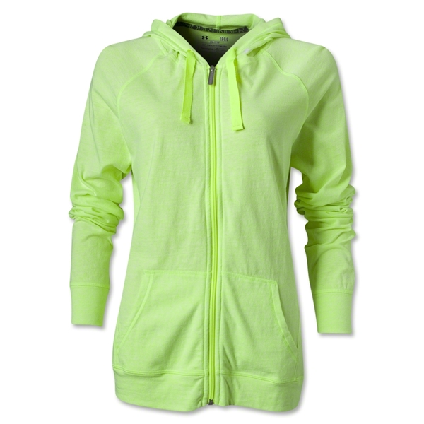 Under Armour Charged Cotton Undeniable Full Zip (Neon Green)