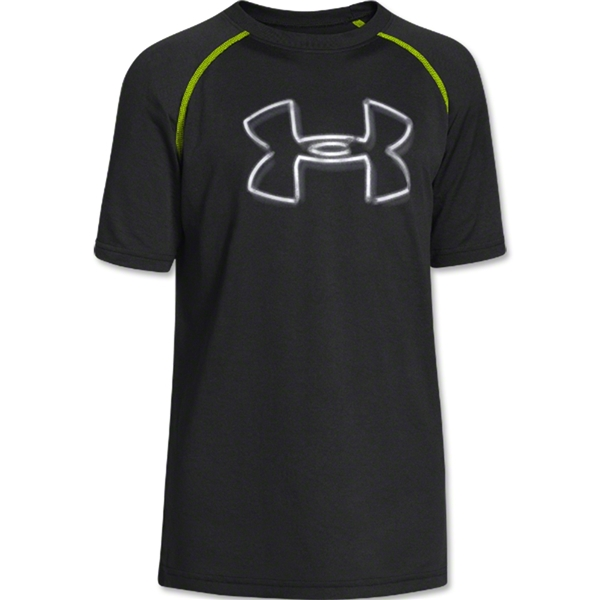 Under Armour Youth Big Logo T-Shirt (Black/Lime)