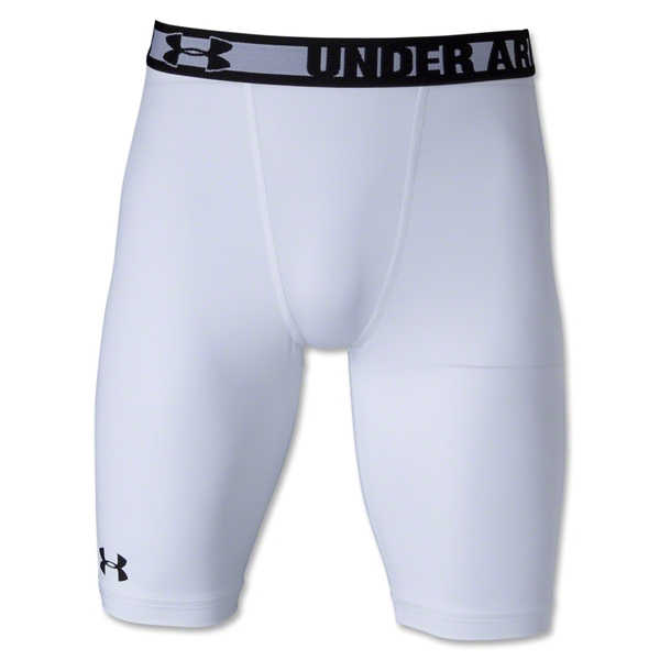 Under Armour HeatGear Sonic Compression Short (White)