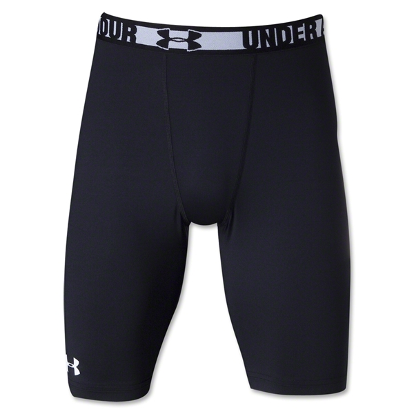 Under Armour HeatGear Sonic Compression Short Long (Blk/Wht)