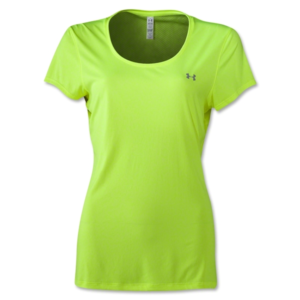 Under Armour Women's HeatGear Flyweight T-Shirt (Neon Green)