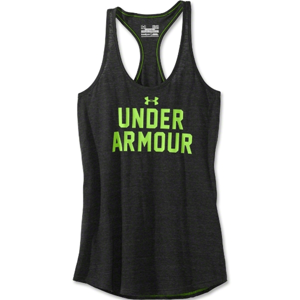 Under Armour Women's Undeniable Wordmark Tank (Blk/Green)