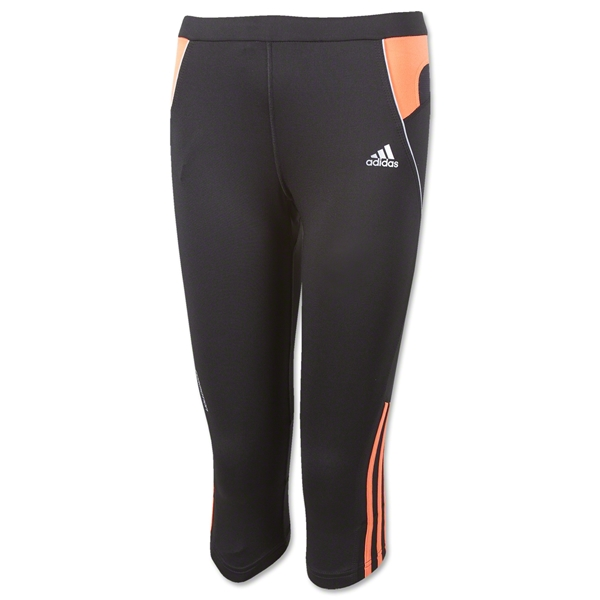 adidas Reponse DS 3/4 Tight Women's Pants (Blk/Orange)