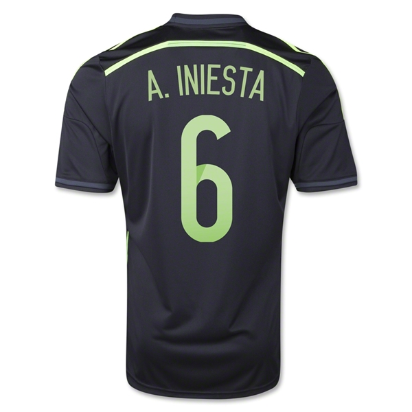 Spain 2014 A. INIESTA Away Soccer Jersey