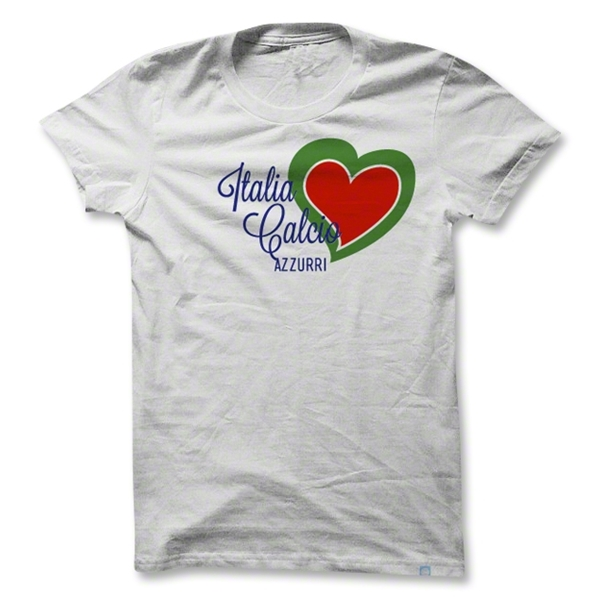 Objectivo Women's Italy Heart Soccer T-Shirt (White)