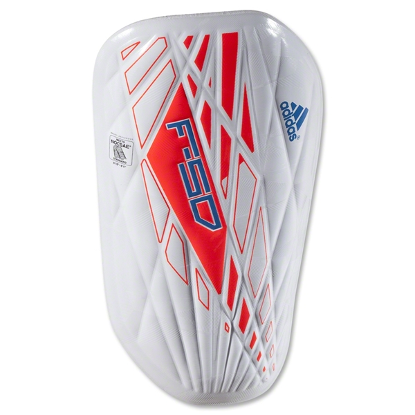 adidas F50 Techfit 12 Shinguard (White/Infrared/Bright Blue)