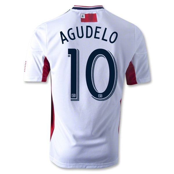 New England Revolution 2013 AGUDELO Authentic Secondary Soccer Jersey