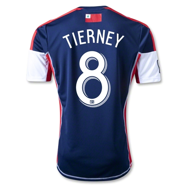New England Revolution 2013 TIERNEY Primary Soccer Jersey