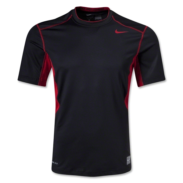 Nike Hypercool Fitted Top 2.0 T-Shirt (Blk/Red)