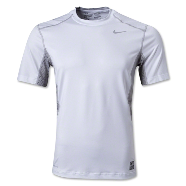 Nike Hypercool Fitted Top 2.0 T-Shirt (White/Gray)