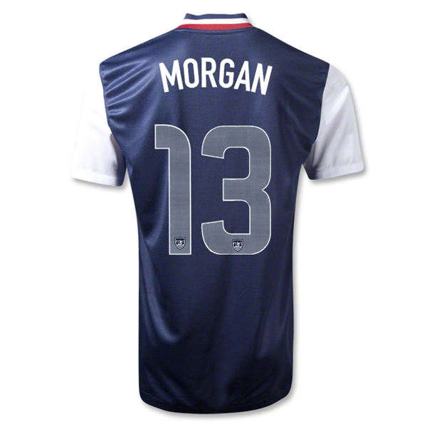 USA 12/13 MORGAN Away Soccer Jersey