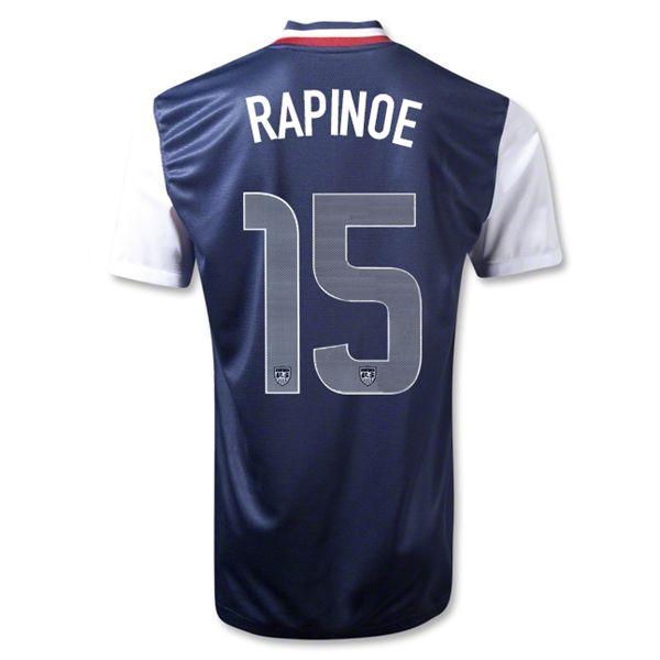 USA 12/13 RAPINOE Away Soccer Jersey