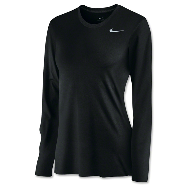 Nike Women's Long Sleeve Legend Shirt (Black)