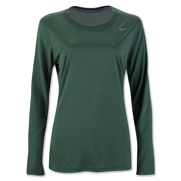 Nike Women's Long Sleeve Legend Shirt (Dark Green)