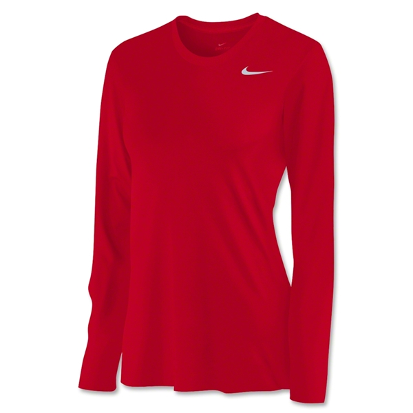 Nike Women's Long Sleeve Legend Shirt (Red)