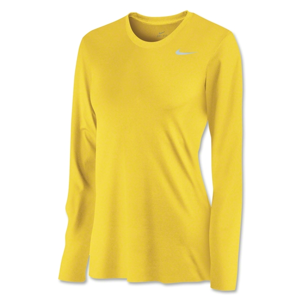 Nike Women's Long Sleeve Legend Shirt (Yellow)