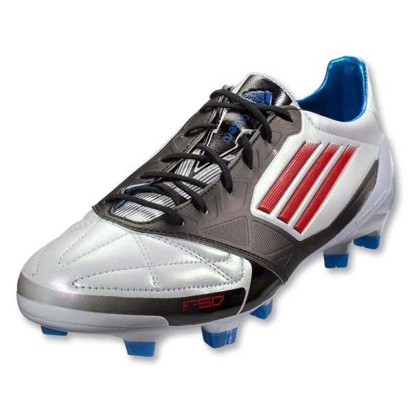 adidas F50 adizero TRX FG Leather Cleats (White/Core Energy/Black)