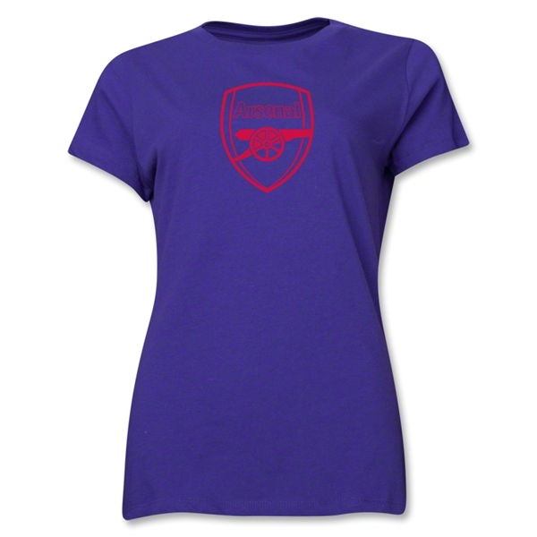 Arsenal Crest Women's T-Shirt (Purple)