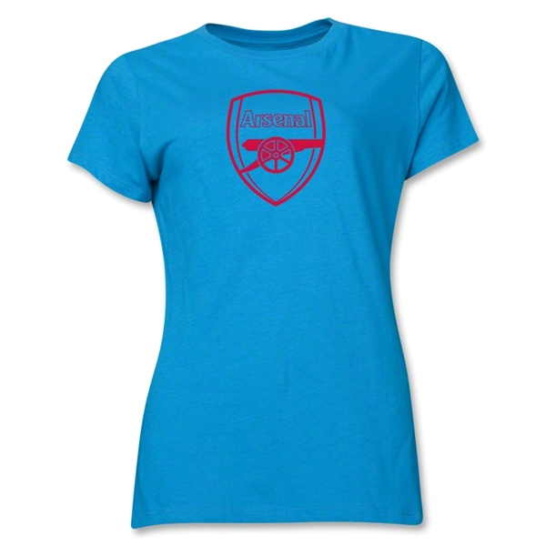 Arsenal Crest Women's T-Shirt (Turquoise)