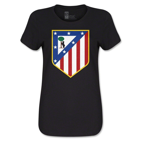 Atletico Madrid Crest Women's T-Shirt (Black)