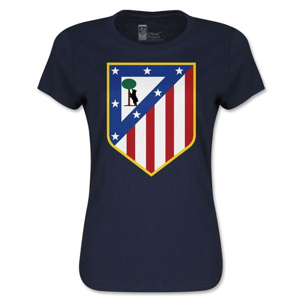 Atletico Madrid Crest Women's T-Shirt (Navy)