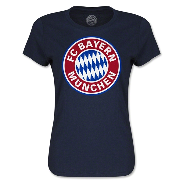 Bayern Munich Logo Women's T-Shirt (Navy)