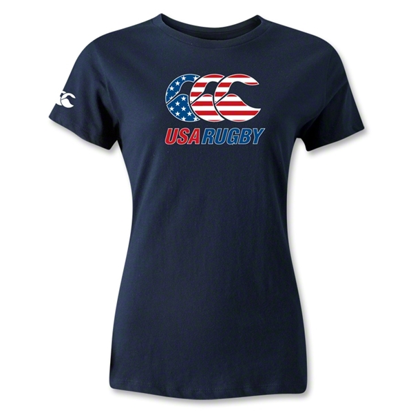 USA Rugby Women's Stars and Stripes T-Shirt (Navy)