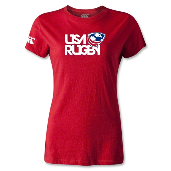 USA Rugby Women's Logo T-Shirt (Red)