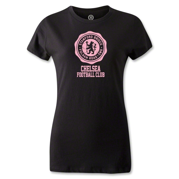 Chelsea Women's Distressed T-Shirt (Black)