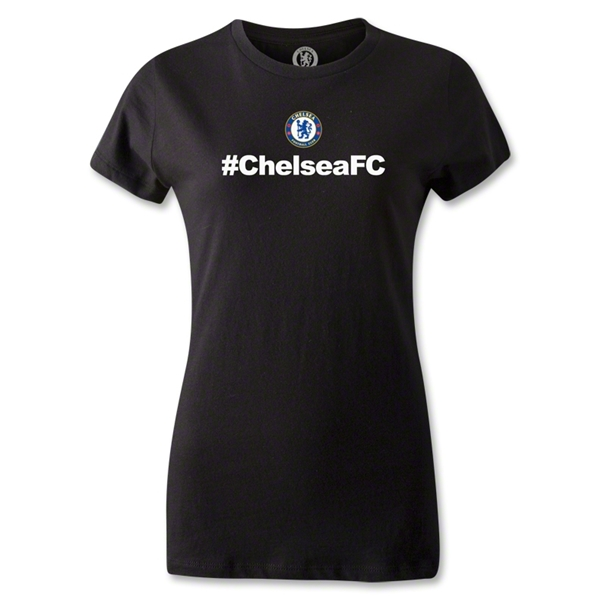 Chelsea Hashtag Women's T-Shirt (Black)