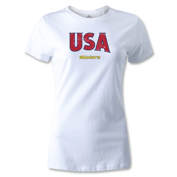 CONCACAF Gold Cup 2013 Women's USA T-Shirt (White)