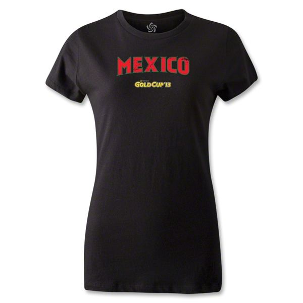 CONCACAF Gold Cup 2013 Women's Mexico T-Shirt (Black)
