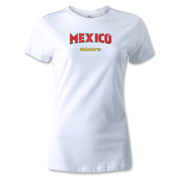CONCACAF Gold Cup 2013 Women's Mexico T-Shirt (White)