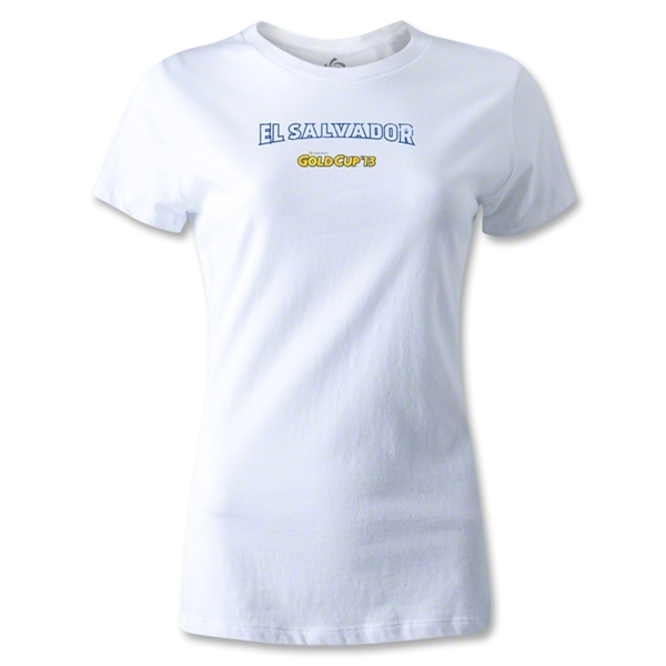 CONCACAF Gold Cup 2013 Women's El Salvador T-Shirt (White)