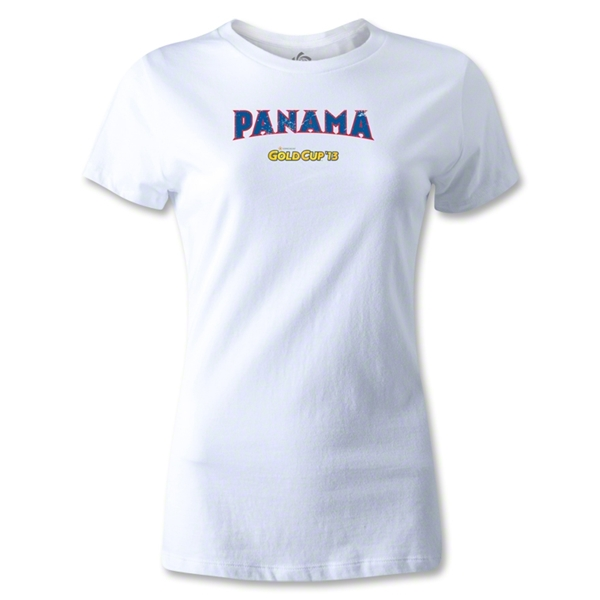CONCACAF Gold Cup 2013 Women's Panama T-Shirt (White)