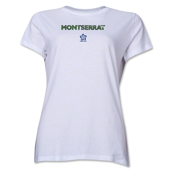 Montserrat CONCACAF Distressed Women's T-Shirt (White)
