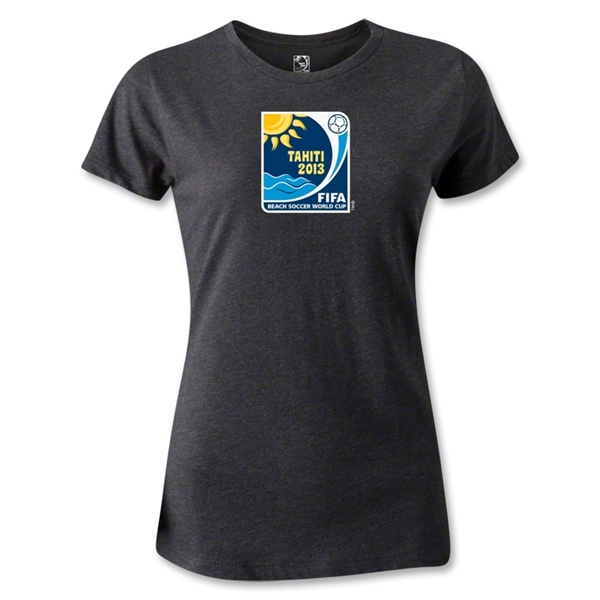 FIFA Beach World Cup 2013 Women's Emblem T-Shirt (Dark Gray)