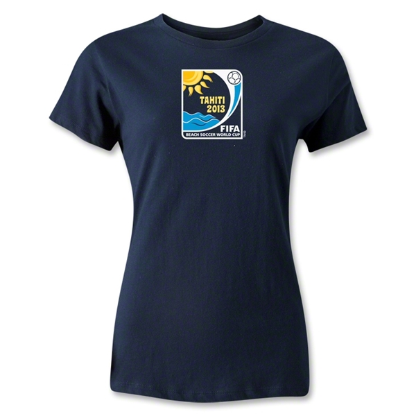 FIFA Beach World Cup 2013 Women's Emblem T-Shirt (Navy)
