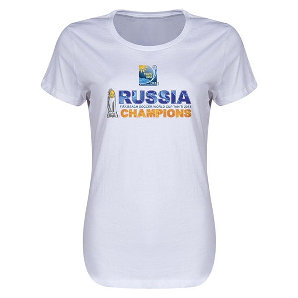 Russia FIFA Beach World Cup 2013 Winners Women's T-Shirt (White)