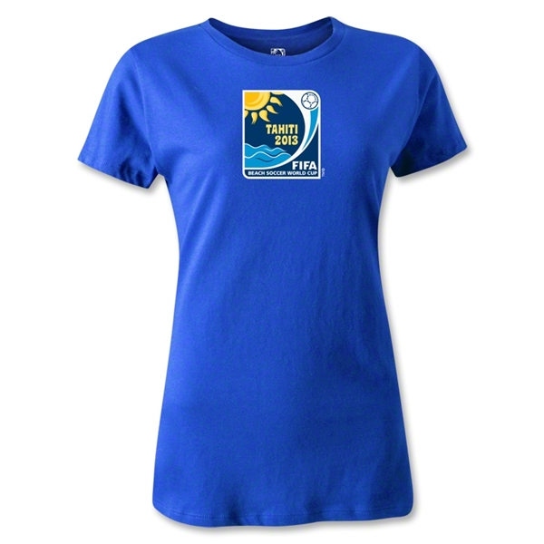 FIFA Beach World Cup 2013 Women's Emblem T-Shirt (Royal)