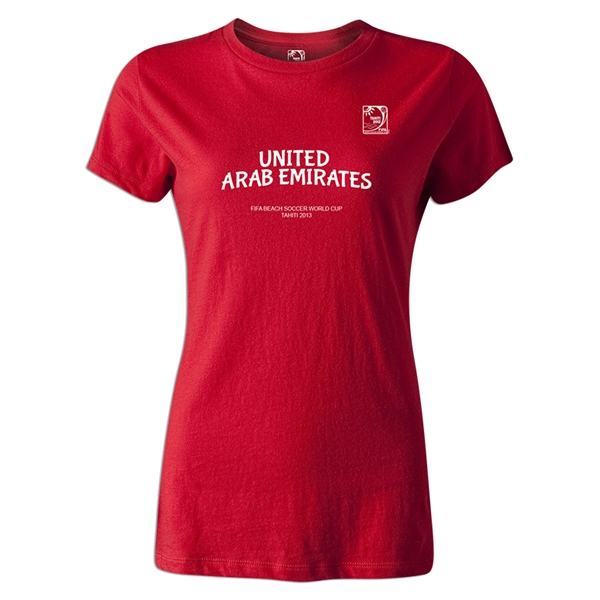 FIFA Beach World Cup 2013 United Arab Emirates Women's T-Shirt (Red)