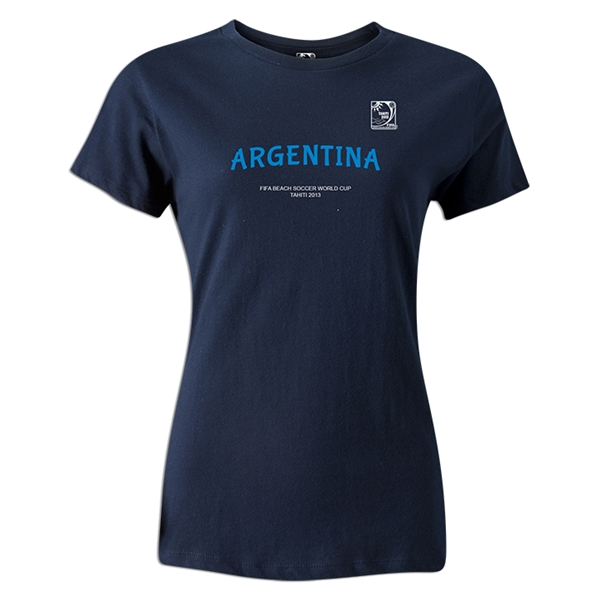 FIFA Beach World Cup 2013 Argentina Women's T-Shirt (Navy)