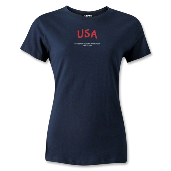 USA FIFA Beach World Cup 2013 Women's T-Shirt (Navy)