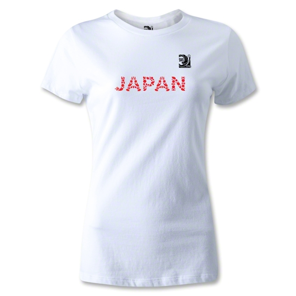 FIFA Confederations Cup 2013 Women's Japan T-Shirt (White)